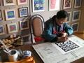 前の写真のサムネイル:農民画家さん実演ビデオ1
