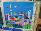 サムネイル:上海がモチーフの農民画