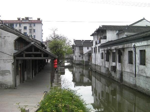 写真:竹行橋(楓涇三橋)の南側