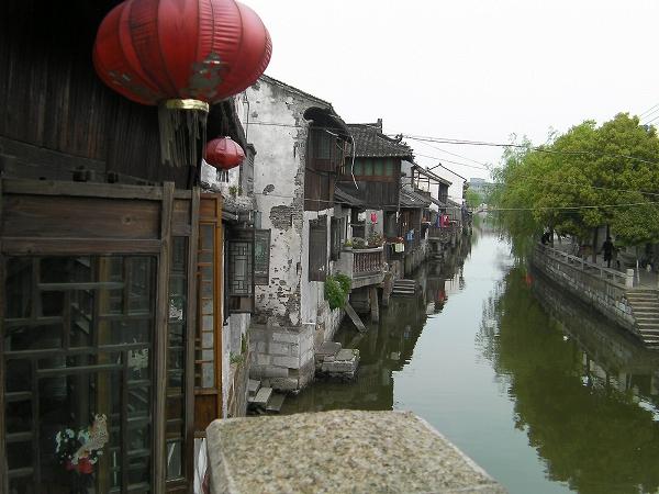 写真:北豊橋(楓涇三橋)から北向きの景色