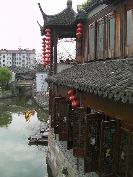 写真:北豊橋(楓涇三橋)から南向きの景色