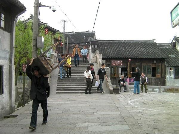 写真:清風橋(楓涇三橋)を東から眺める